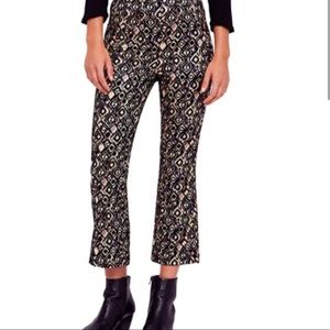 Free People • Mod Metallic Crop Boot Pants